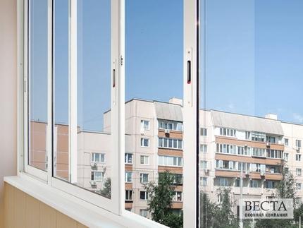 Цены на остекление балконов в доме серии п-46м.